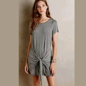 Anthro. Dolan Left Coast Front Tie T-Shirt Dress